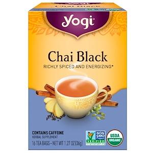 Йоги Ти, Chai Black, Caffeine, 16 Tea Bags, 1.27 oz (36 g) отзывы покупателей