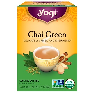 Yogi Tea, Chai Green Tea, 16 Tea Bags, 1.27 oz (36 g)