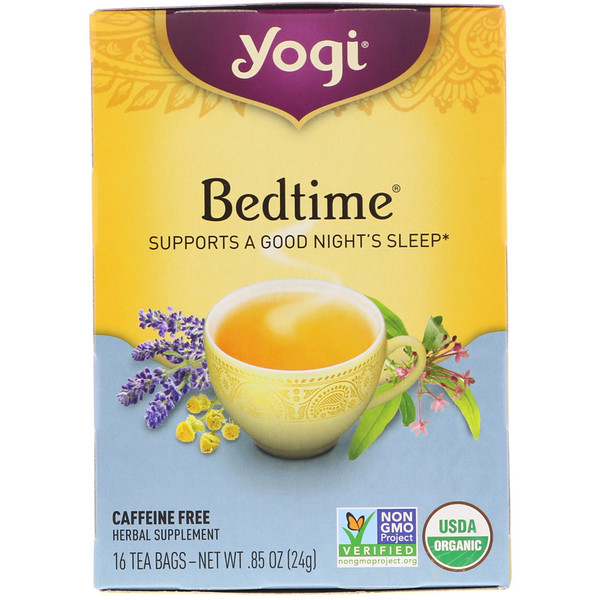 Yogi Tea, 就寝時に, カフェインフリー, 16ティーバッグ, 0.85オンス(24 g)