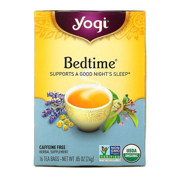 Yogi Tea, ベッドタイム、カフェインフリー、ティーバッグ16袋、24g(0.85オンス)