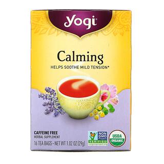 Yogi Tea, カーミング、カフェインフリー、ティーバッグ16袋、29g(1.02オンス)