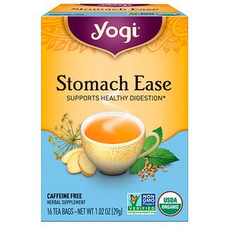 Yogi Tea, 胃楽(Stomach Ease), カフェインフリー, 16ティーバッグ, 1.02オンス (29 g)