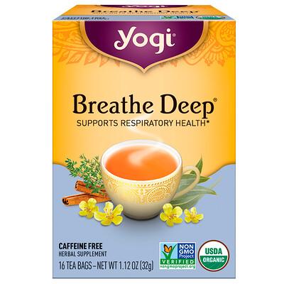 Органическая серия, Breathe Deep, без кофеина, 16чайных пакетиков, 32г  - купить со скидкой