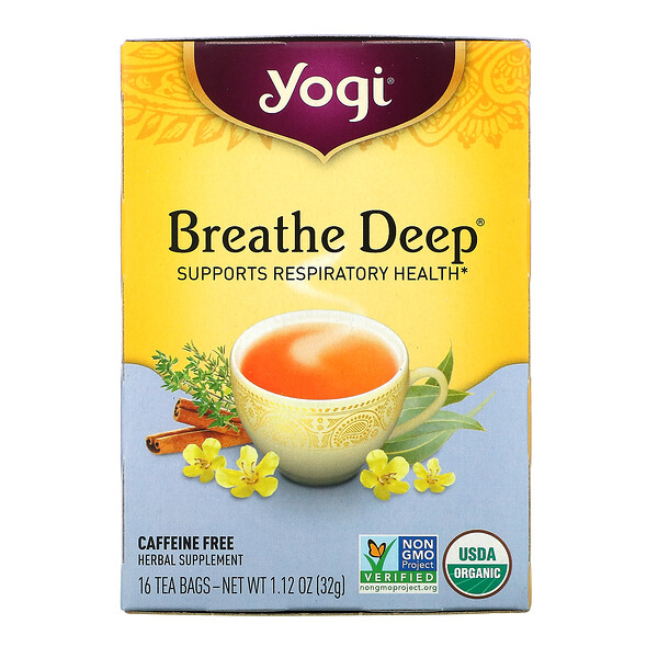 Breathe Deep, Caffeine Free, 16 Tea Bags, 1.12 oz (32 g)