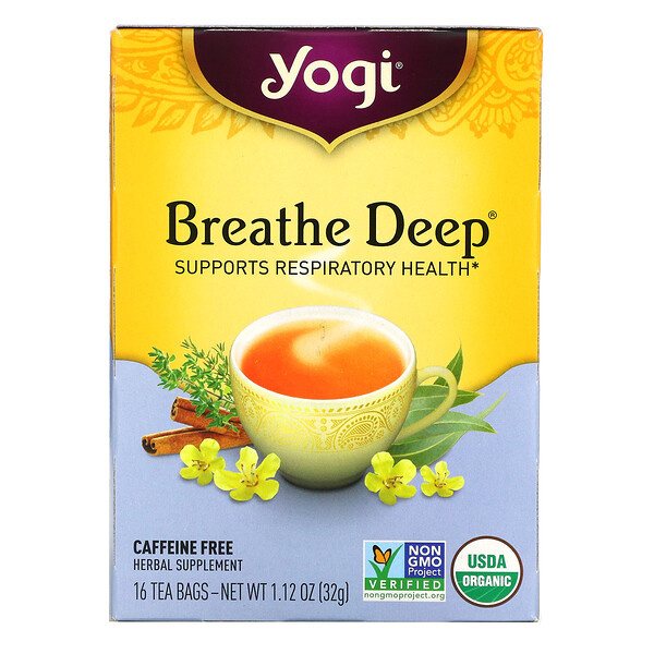 Breathe Deep, Caffeine Free, 16 Tea Bags, 1.12 oz (32 g)