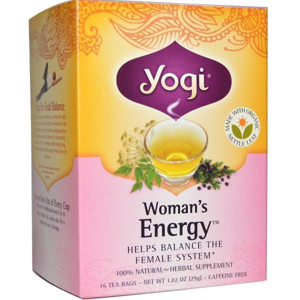 Yogi Tea, Woman's Energy, Caffeine Free, 16 Tea Bags, 1.02 oz (29 g)