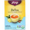 Yogi Tea, ディトックス, カフェインフリー, 16ティーバッグ, 1.02oz(29 g)