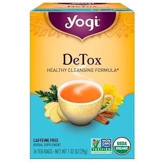 Yogi Tea, 解毒, カフェインフリー, 16ティーバッグ, 1.02オンス(29 g)
