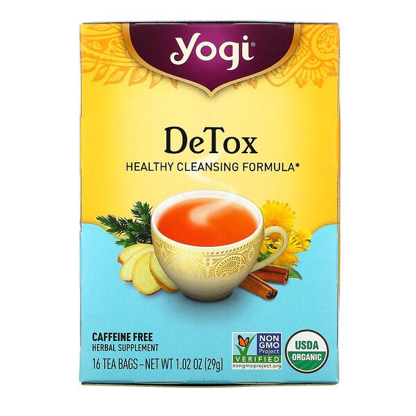 شاي للتخلص من السموم، خالٍ من الكافيين، 16 كيس شاي، 1.02 أونصة (29 جم)