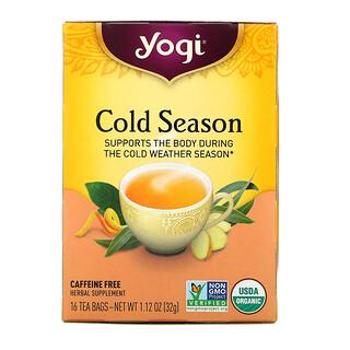 Yogi Tea, Cold Season, Caffeine Free, 16 Tea Bags, 1.12 oz (32 g)