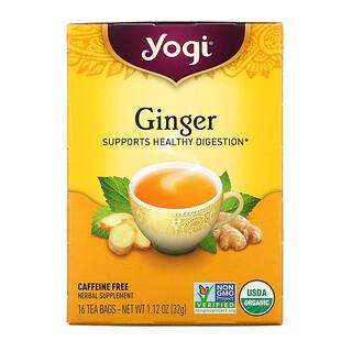 Yogi Tea, زنجبيل عضوي، 16 كيس شاي، 1.12 أونصة (32 جم)