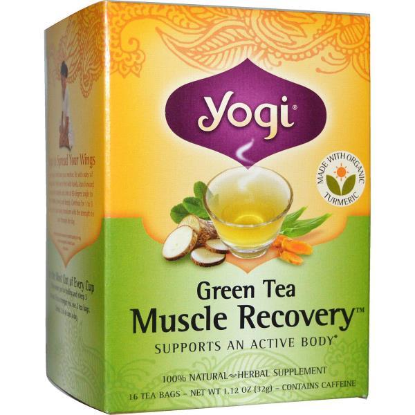 Yogi Tea, Green Tea Muscle Recovery, 16 Tea Bags, 1.12 oz (32 g)