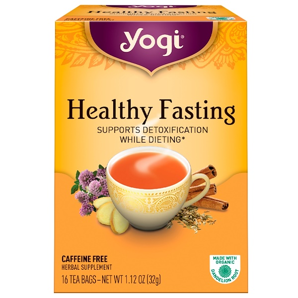 Yogi Tea, Healthy Fasting, Caffeine Free, 16 Tea Bags, 1.12 oz (32 g) (Discontinued Item)