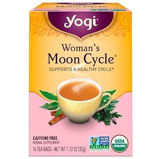 Yogi Tea, Woman's Moon Cycle, Caffeine Free, 16 Tea Bags, 1.12 oz (32 g)