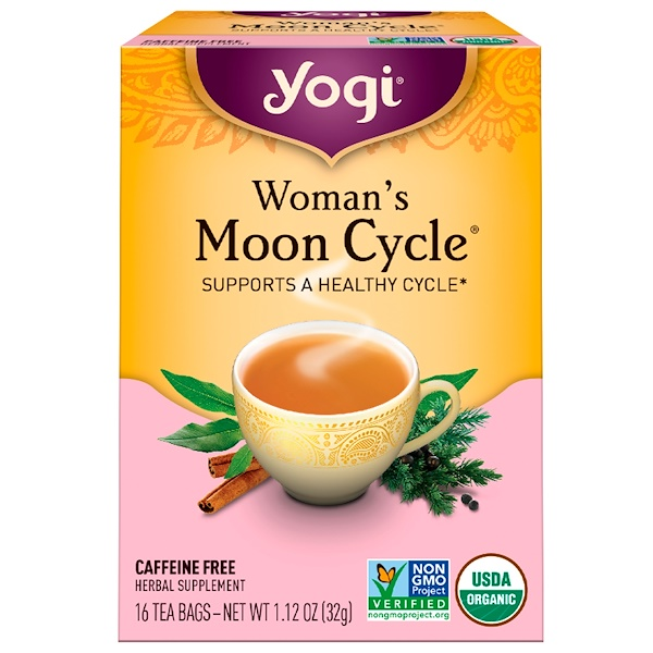 Yogi Tea, Woman's Moon Cycle, Tee für Frauen, Koffeinfrei, 16 Teebeutel, 32 g