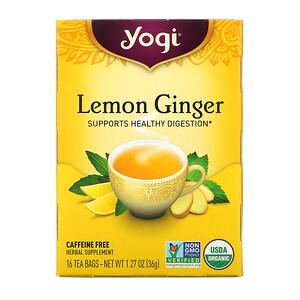Йоги Ти, Lemon Ginger, Caffeine Free, 16 Tea Bags, 1.27 oz (36 g) отзывы покупателей