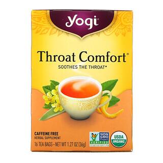 Yogi Tea, Throat Comfort, Caffeine Free, 16 Tea Bags, 1.27 oz (36 g)