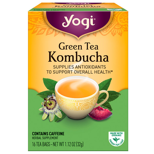 Yogi Tea, Green Tea Kombucha, 16 Tea Bags, 1.12 oz (32 g)