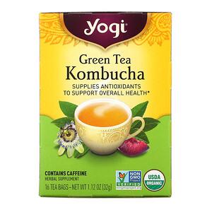 Йоги Ти, Green Tea Kombucha, 16 Tea Bags, 1.12 oz (32 g) отзывы