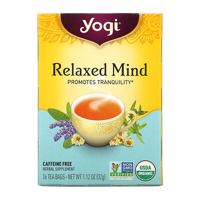 Купить Yogi Tea Relaxed Mind, чай без кофеина, 16чайных пакетиков, 32г (1, 12унции)
