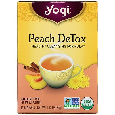 Купить Peach DeTox, Caffeine Free, 16 Tea Bags, 1.12 oz (32 g)
