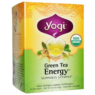 Yogi Tea, Organic Green Tea Energy, Caffeine, 16 Tea Bags, .92 oz (26 g)