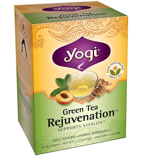 Yogi Tea, Green Tea Rejuvenation, 16 Tea Bags, 1.12 oz (32 g) (Discontinued Item)