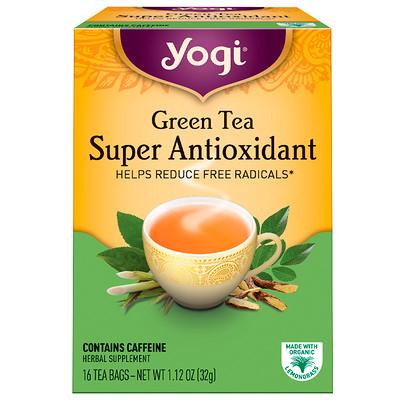 Купить Зеленый чай, Super Antioxidant, 16 чайных пакетиков, 1, 12 унции (32 г)