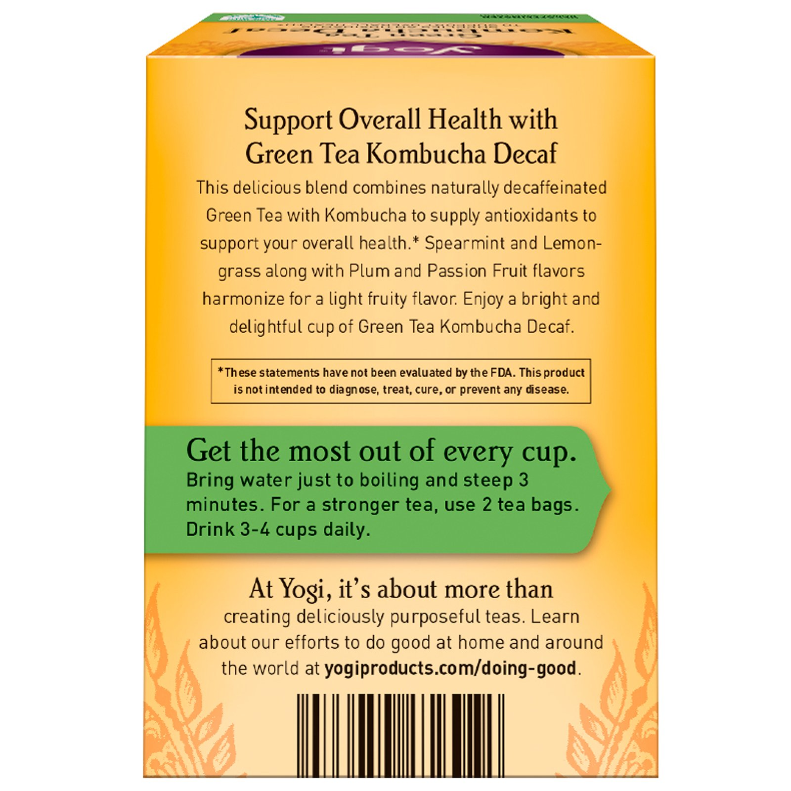 Yogi Green Tea Kombucha Decaf