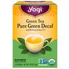 Yogi Tea, 緑茶, カフェイン抜きの純粋な緑茶, 16ティーバッグ, 1.09オンス(31 g)
