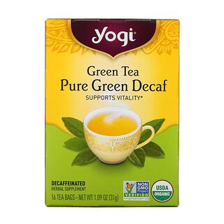 Yogi Tea, Té Verde, Puro verde Descafeinado, 16 Saquitos de Té, 1.09 oz (31 g)