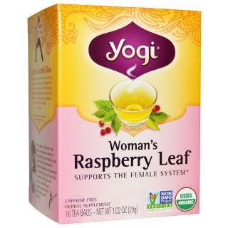 Yogi Tea, Woman's Raspberry Leaf, Caffeine Free, 16 Tea Bags, 1.02 oz (29 g)