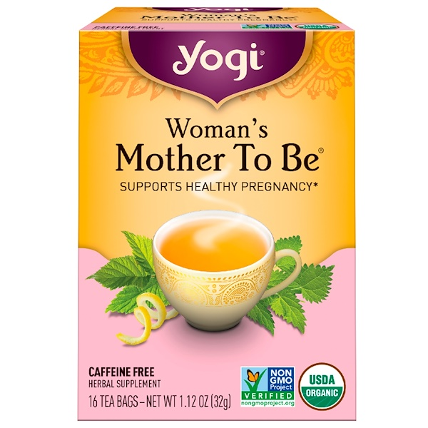 Yogi Tea, Woman's Mother To Be, Caffeine Free, 16 Tea Bags, 1.12 oz (32 g) (Discontinued Item)