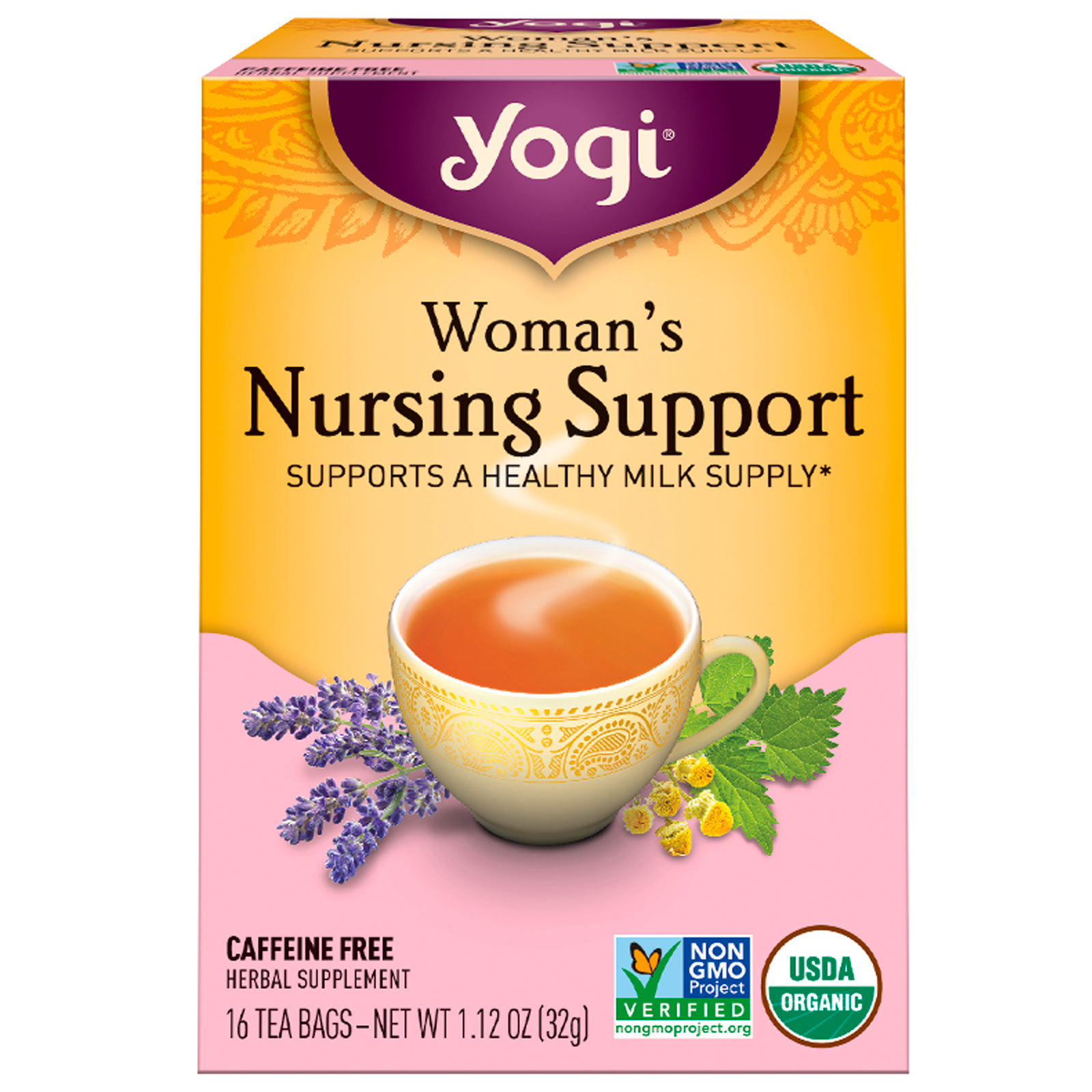 Yogi Tea Womans Nursing Support Caffeine Free 16 Bags 112 Serum Vitamin C Nasa Oz
