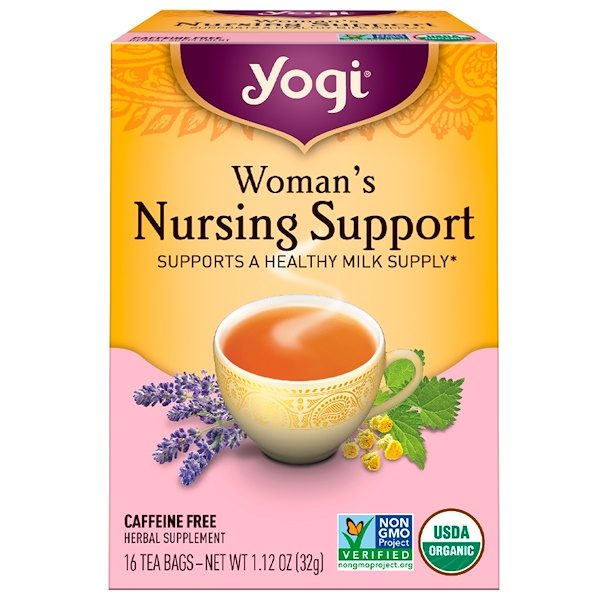 Yogi Tea, Woman's Nursing Support, Caffeine Free, 16 Tea Bags, 1.12 oz (32 g) (Discontinued Item)