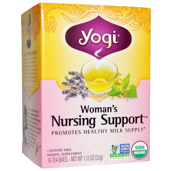 Yogi Tea, Organic, Woman's Nursing Support, Caffeine Free, 16 Tea Bags, 1.12 oz (32 g)