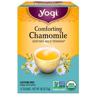 Купить Успокаивающая ромашка, не содержит кофеин, 16 чайных пакетиков, .85 унций (24 г)