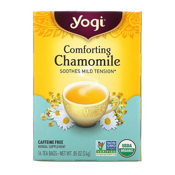 Comforting Chamomile, Caffeine Free, 16 Tea Bags, .85 oz (24 g)