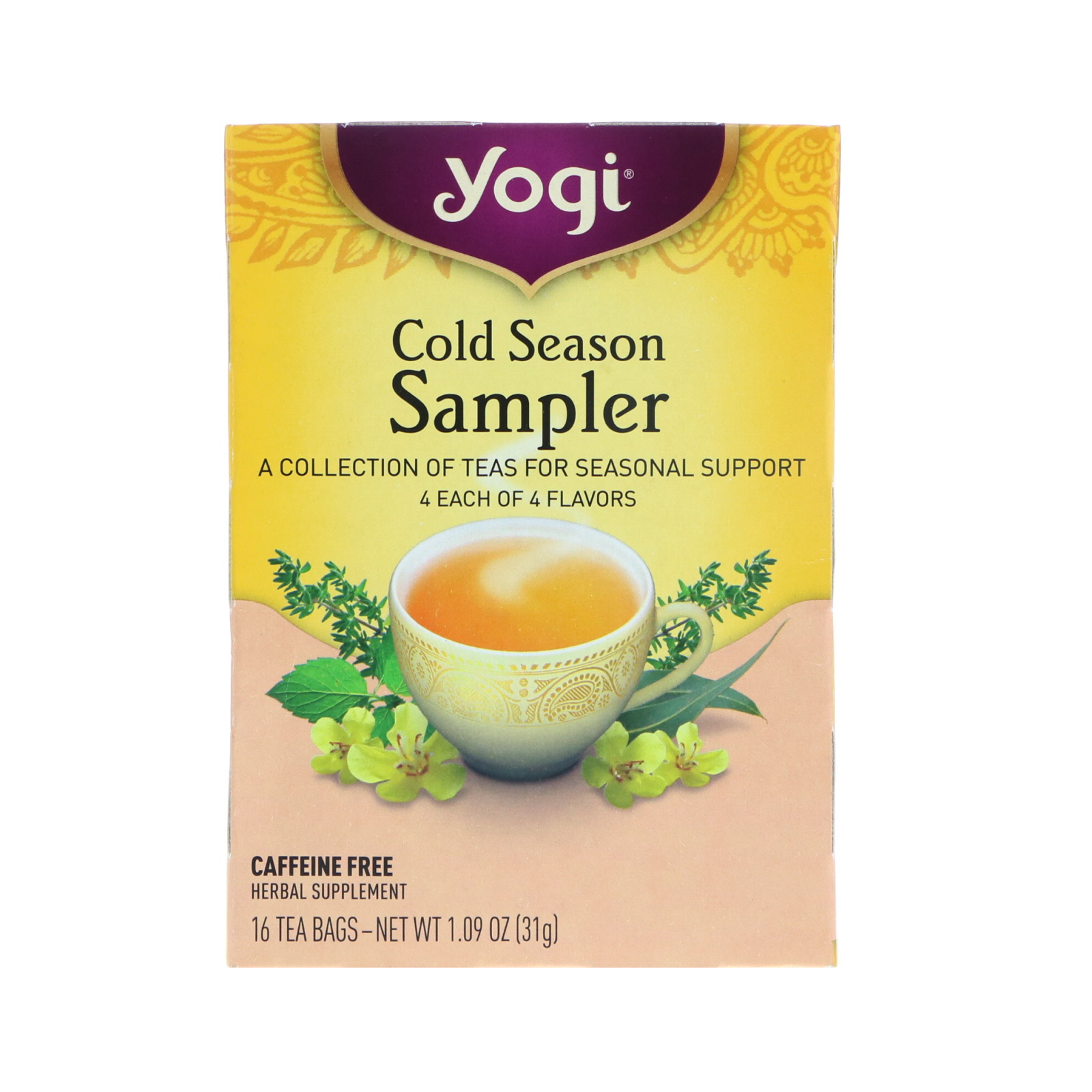 Yogi Tea Cold Season Sampler 16 Bags 1 09 Oz 31