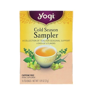 Yogi Tea, Cold Season, Sampler, 16 Tea Bags, 1.09 oz (31 g)