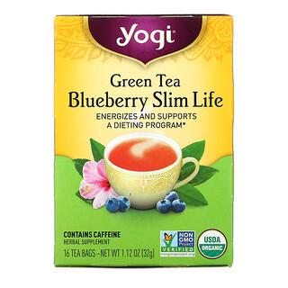 Yogi Tea, Green Tea Blueberry Slim Life, 16 Tea Bags, 1.12 oz (32 g)