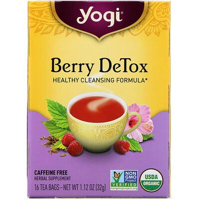 Купить Berry DeTox, Без кофеина, 16 чайных пакетиков, 1.12 унций (32 г)