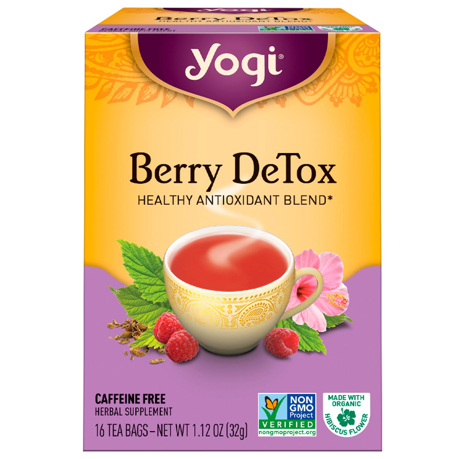yogi tea berry detox caffeine free 16 tea bags 112 oz
