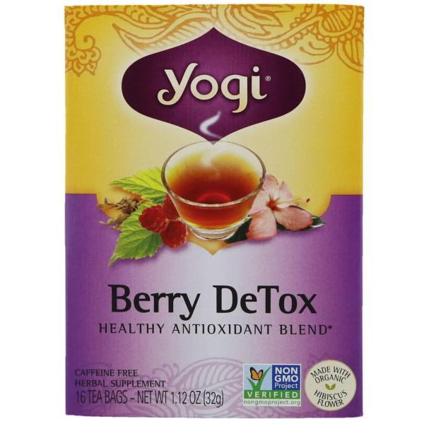 Yogi Tea, Berry DeTox, Caffeine Free, 16 Tea Bags, 1.12 oz (32 g)
