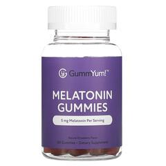 GummYum!, Melatonin Gummies, Natural Strawberry , 2.5 mg, 60 Gummies