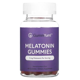 GummYum!, Gomitas con melatonina, Sabor natural a fresa, 2,5mg, 60gomitas