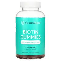 GummYum!, Biotin Gummies, Strawberry, 2,500 mcg, 180 Gummies