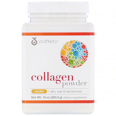Купить Collagen Powder, Vanilla, 10 oz (283.5 g)