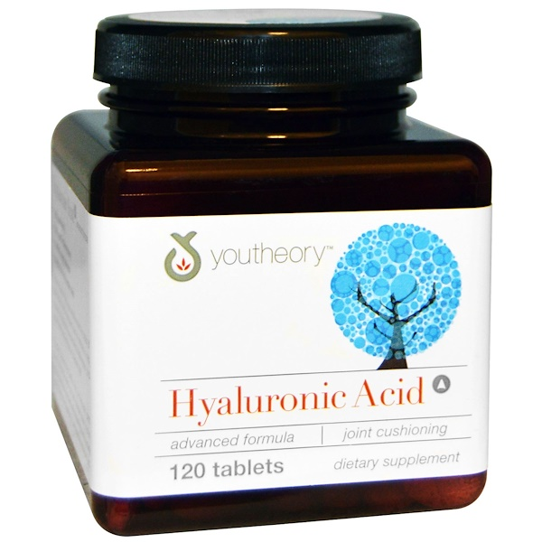 Youtheory, Hyaluronic Acid Advanced Formula, 120 Tablets