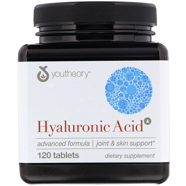 Youtheory, Hyaluronic Acid, 120 Count
